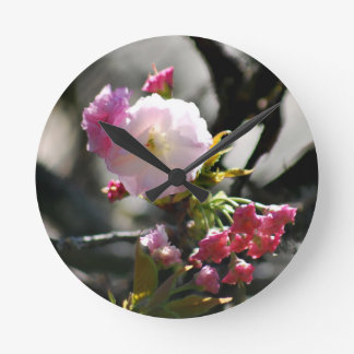 Cherry Blossoms and meaning Round Clock