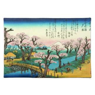 Cherry Blossoms and Mount Fuji 1838 Placemat