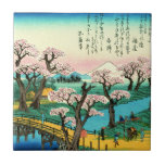 Cherry Blossoms and Mount Fuji 1838 Tiles