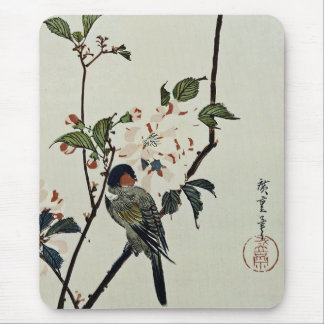 Cherry Blossoms and Small Bird Mouse Pad
