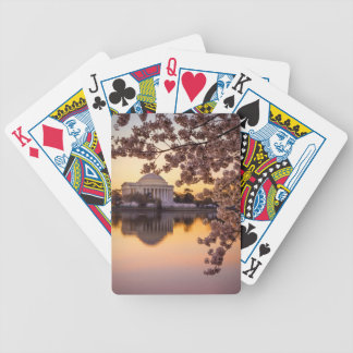 Cherry Blossoms And The Jefferson Memorial Bicycle Playing Cards