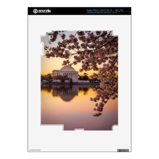 Cherry Blossoms And The Jefferson Memorial Decals For iPad 3