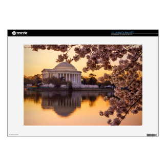 """Cherry Blossoms And The Jefferson Memorial Skins For 15"""" Laptops"""