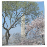 Cherry Blossoms and the Washington Monument in DC Cloth Napkin