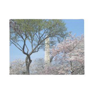 Cherry Blossoms and the Washington Monument in DC Doormat