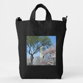 Cherry Blossoms and the Washington Monument in DC Duck Bag