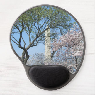 Cherry Blossoms and the Washington Monument in DC Gel Mouse Pad