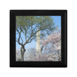 Cherry Blossoms and the Washington Monument in DC Keepsake Box