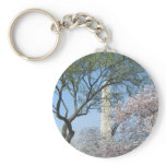 Cherry Blossoms and the Washington Monument in DC Keychain