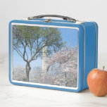 Cherry Blossoms and the Washington Monument in DC Metal Lunch Box
