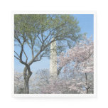 Cherry Blossoms and the Washington Monument in DC Napkin