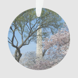 Cherry Blossoms and the Washington Monument in DC Ornament