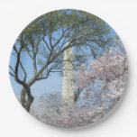 Cherry Blossoms and the Washington Monument in DC Paper Plate