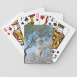 Cherry Blossoms and the Washington Monument in DC Playing Cards