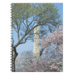 Cherry Blossoms and the Washington Monument in DC Spiral Notebook