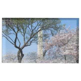 Cherry Blossoms and the Washington Monument Table Card Holders