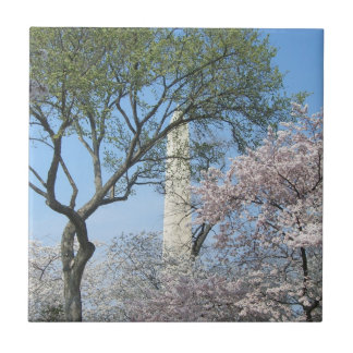 Cherry Blossoms and the Washington Monument Tile