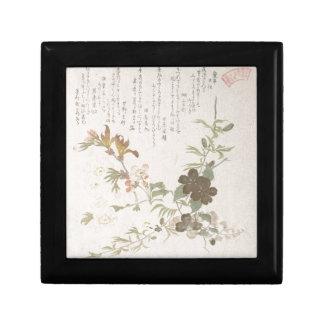 Cherry Blossoms and Yamabuki Flowers Jewelry Box