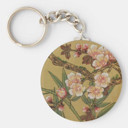 Cherry Blossoms Asian Japanese Art Key Chain