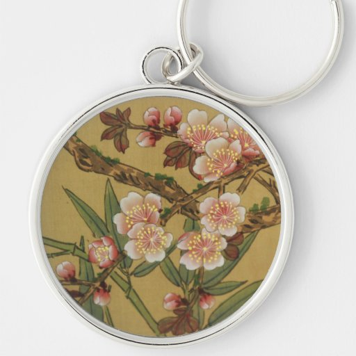 Cherry Blossoms Asian Japanese Art Key Chains