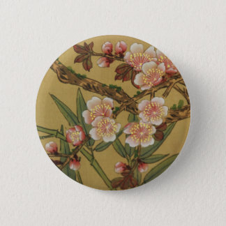 Cherry Blossoms Asian Japanese Art Pinback Button