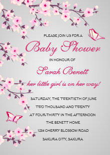 Cherry blossom baby shower invitations zazzle cherry blossoms baby shower invitation card filmwisefo