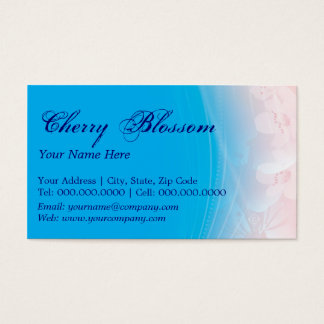 cherry blossoms ~ bc business card
