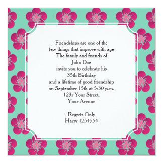 Cherry Blossoms Birthday Pink Pattern Sakura Card