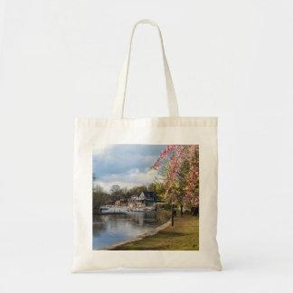 Cherry Blossoms, Boathouse Row, Philadelphia Tote Bag