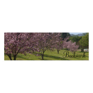 Cherry Blossoms BOOKMARK Mini Business Card