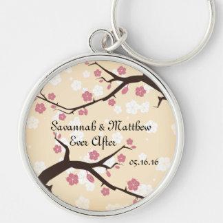Cherry Blossoms Branch Weddings Keychain