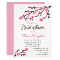 Cherry Blossoms Bridal Shower Card