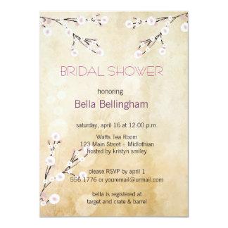 "Cherry Blossoms Bridal Shower Invitation 4.5"" X 6.25"" Invitation Card"