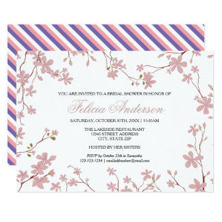 Cherry Blossoms - Bridal Shower Invitation