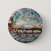 Cherry Blossoms Button