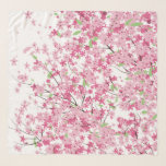 """Cherry Blossoms Chifon Scarf<br><div class=""""desc"""">CHERRY BLOSSOMS Carry these cherry blossoms with you and Spring will be eternal … not really, but maybe they will remind you of Spring. NOTE: The design extends to the edge of the scarf and does not include a beige border as it appears in the sample photo. Please choose hem...</div>"""