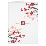 Cherry Blossoms Chinese Wedding Thank You Card