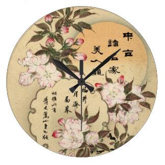 Cherry blossoms wall clocks