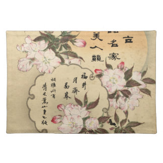 Cherry blossoms cloth placemat