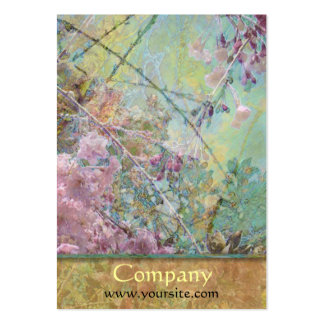 Cherry Blossoms Collage Business Card Template