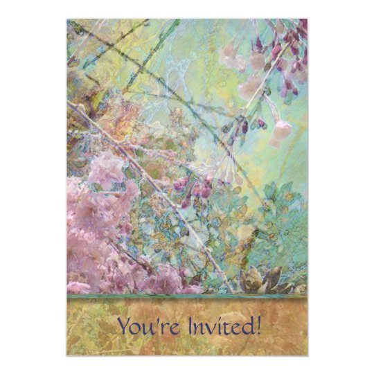 Cherry Blossoms Collage Card