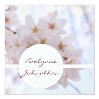 Cherry Blossoms Custom Personalized Invitations
