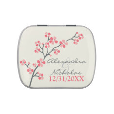 Cherry Blossoms Custom Wedding Favor Tins (pink) Jelly Belly Tin at Zazzle