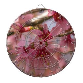 Cherry Blossoms Dartboard With Darts