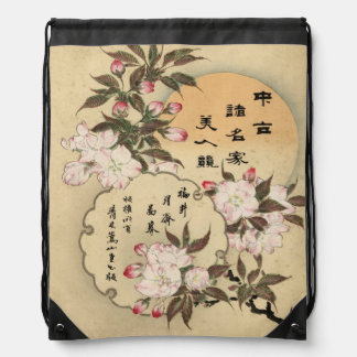 Cherry blossoms drawstring backpack