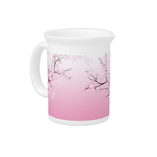 Cherry Blossoms Drink Pitcher