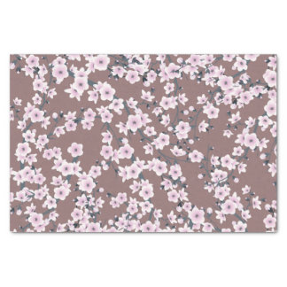 Cherry Blossoms Dusky Pink Pattern Tissue Paper