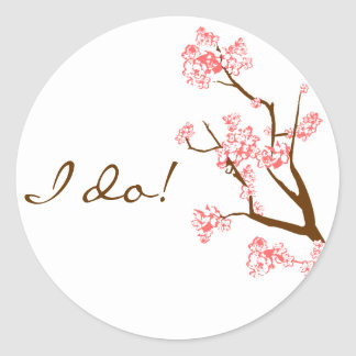 Cherry Blossoms Envelope Seal Stickers