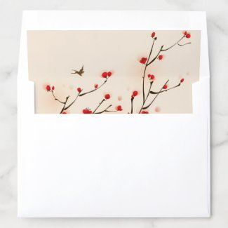 Cherry Blossoms Floral Envelope Liner