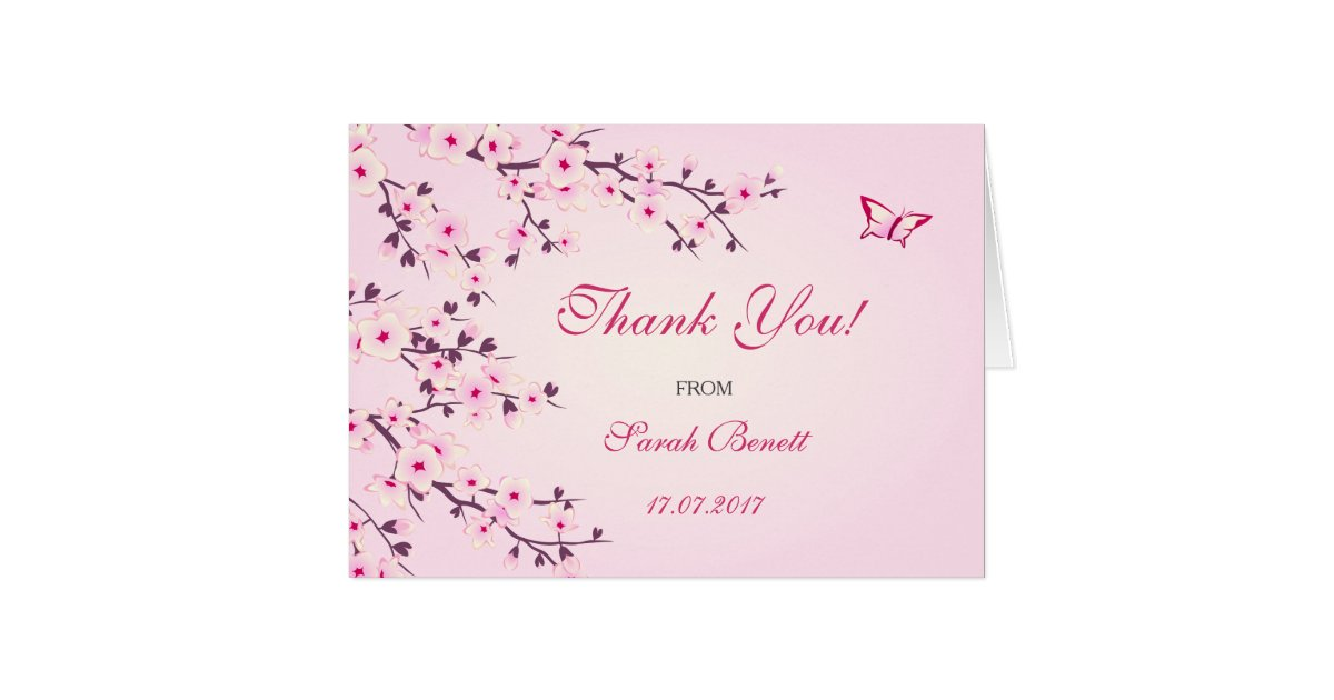 Cherry Blossoms Floral Thank You Baby Shower | Zazzle.com